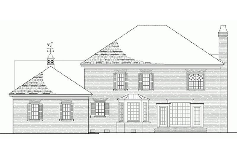 Colonial Exterior - Rear Elevation Plan #137-105 - Houseplans.com
