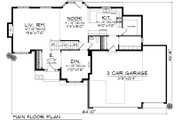 Ranch Style House Plan - 4 Beds 3 Baths 2316 Sq/Ft Plan #70-1033 Floor Plan - Main Floor Plan