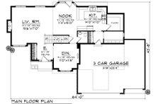 Ranch Floor Plan - Main Floor Plan Plan #70-1033