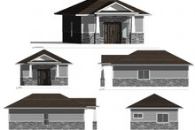 House Plan Design - Cottage Exterior - Other Elevation Plan #1077-7