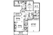 Traditional Style House Plan - 2 Beds 2 Baths 2006 Sq/Ft Plan #45-342 Floor Plan - Main Floor Plan