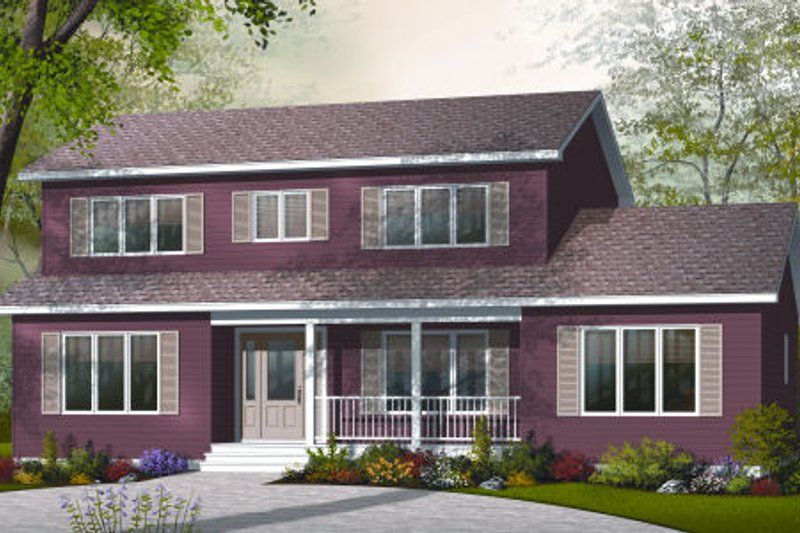 Country Style House Plan - 4 Beds 3 Baths 2261 Sq/Ft Plan #23-2252 Exterior - Front Elevation