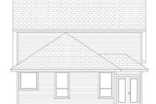 Cottage Exterior - Rear Elevation Plan #84-569
