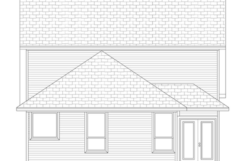 Cottage Exterior - Rear Elevation Plan #84-569 - Houseplans.com