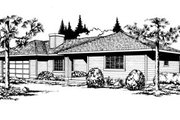 Traditional Style House Plan - 2 Beds 1 Baths 1062 Sq/Ft Plan #85-102 Exterior - Front Elevation