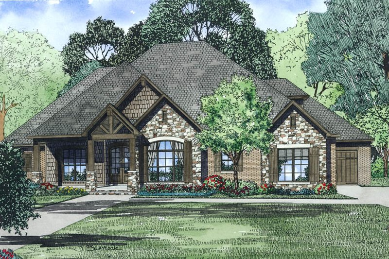 European Exterior - Other Elevation Plan #17-2496 - Houseplans.com