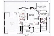 Traditional Style House Plan - 2 Beds 2 Baths 2150 Sq/Ft Plan #414-101 Floor Plan - Main Floor