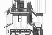 Beach Style House Plan - 4 Beds 3.5 Baths 2769 Sq/Ft Plan #901-120 Exterior - Rear Elevation