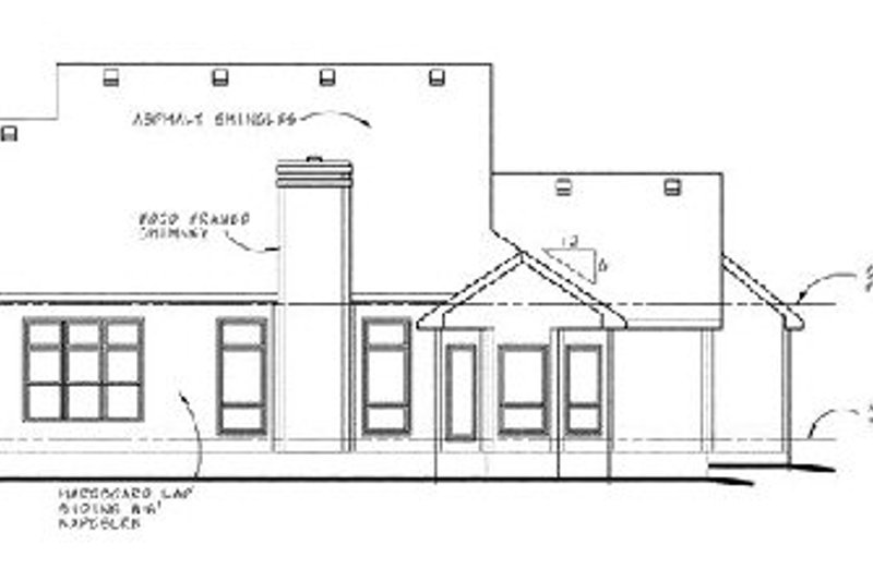 Traditional Exterior - Rear Elevation Plan #20-220 - Houseplans.com
