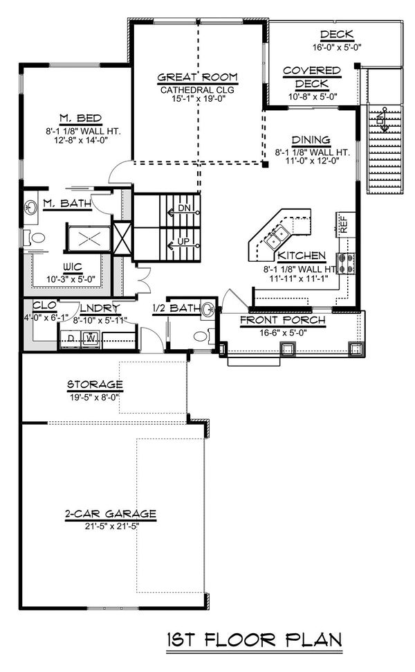 Beach Floor Plan - Main Floor Plan Plan #1064-27