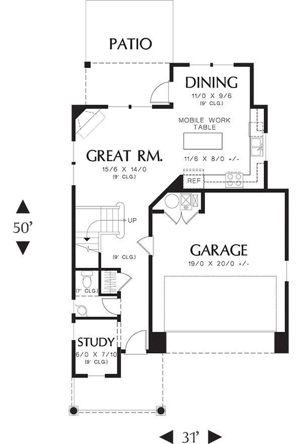 Traditional Floor Plan - Main Floor Plan Plan #48-509