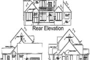 Country Style House Plan - 3 Beds 3 Baths 3355 Sq/Ft Plan #65-428 Exterior - Rear Elevation