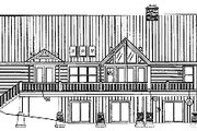 Craftsman Style House Plan - 3 Beds 2.5 Baths 2326 Sq/Ft Plan #417-238 Exterior - Rear Elevation