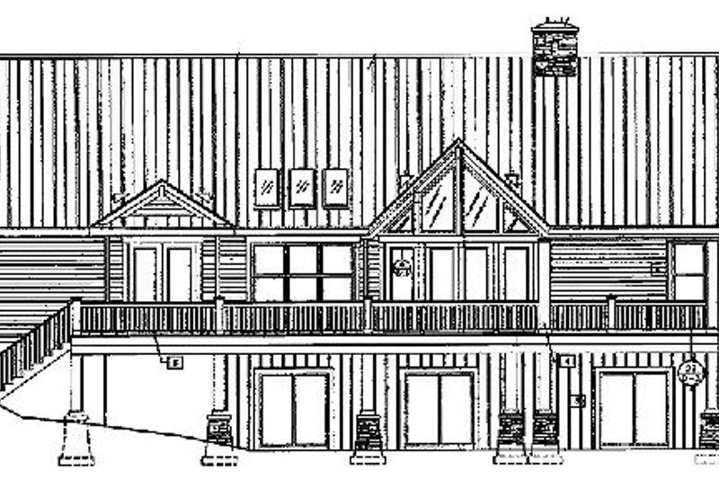 Craftsman Exterior - Rear Elevation Plan #417-238 - Houseplans.com