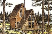 Cottage Style House Plan - 1 Beds 1 Baths 535 Sq/Ft Plan #320-409 Exterior - Front Elevation