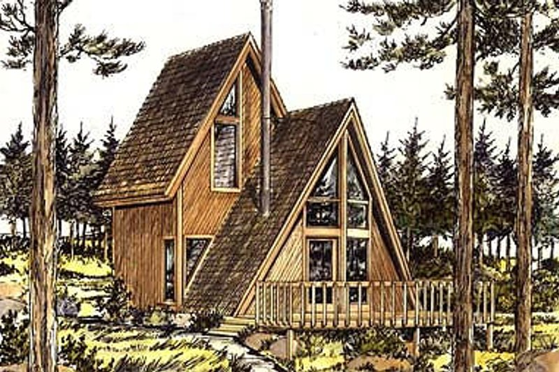 Cottage Exterior - Front Elevation Plan #320-409
