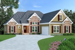 Architectural House Design - Traditional Exterior - Front Elevation Plan #419-112