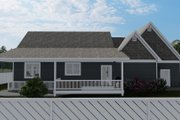 Cottage Style House Plan - 2 Beds 2 Baths 1641 Sq/Ft Plan #1060-64 Exterior - Rear Elevation