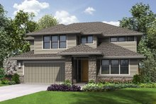 Dream House Plan - Contemporary Exterior - Front Elevation Plan #48-963