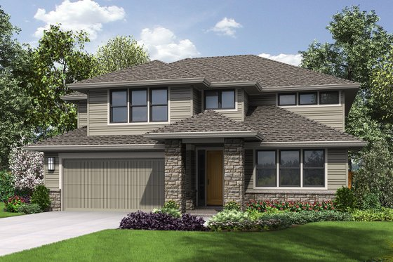 Contemporary Exterior - Front Elevation Plan #48-963