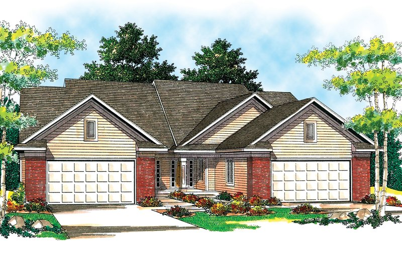 Dream House Plan - Traditional Exterior - Front Elevation Plan #70-1152