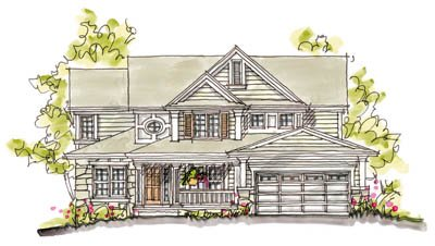 Farmhouse Style House Plan - 4 Beds 2.5 Baths 2638 Sq/Ft Plan #20-245 Exterior - Front Elevation