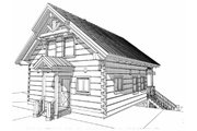 Log Style House Plan - 1 Beds 1.5 Baths 1695 Sq/Ft Plan #451-1 Exterior - Rear Elevation