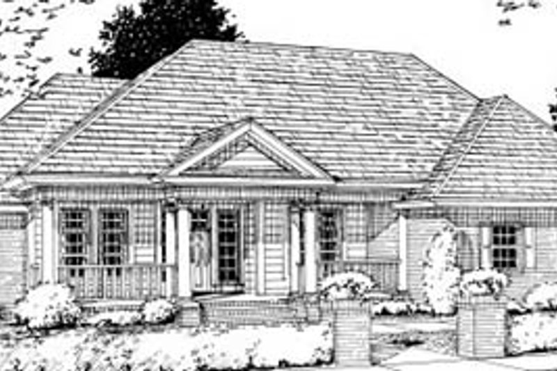 Traditional Exterior - Front Elevation Plan #20-326 - Houseplans.com