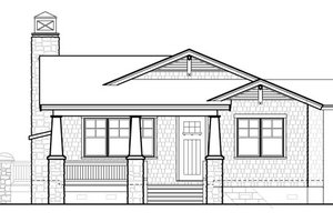 Bungalow Exterior - Front Elevation Plan #490-26