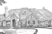 European Style House Plan - 4 Beds 4.5 Baths 4615 Sq/Ft Plan #310-520 Exterior - Front Elevation