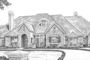 European Exterior - Front Elevation Plan #310-520
