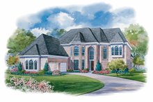 Home Plan - European Exterior - Front Elevation Plan #20-1122