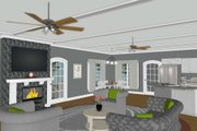 Modern Style House Plan - 4 Beds 4.5 Baths 2225 Sq/Ft Plan #56-723 Interior - Family Room