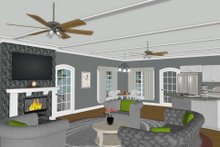 Architectural House Design - Modern Interior - Family Room Plan #56-723