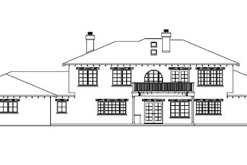 Mediterranean Exterior - Rear Elevation Plan #124-711 - Houseplans.com