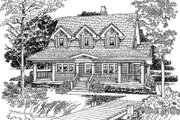 Country Style House Plan - 3 Beds 2 Baths 1715 Sq/Ft Plan #47-385 Exterior - Front Elevation
