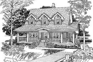 Country Exterior - Front Elevation Plan #47-385