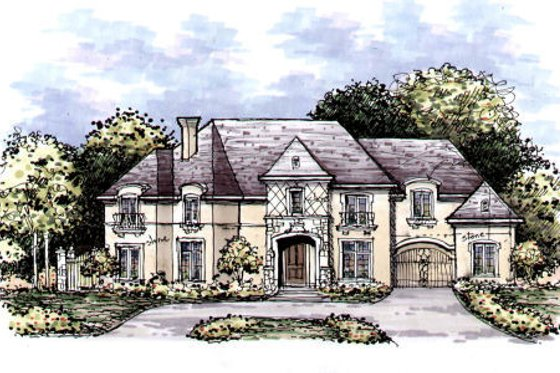 European Exterior - Front Elevation Plan #141-315