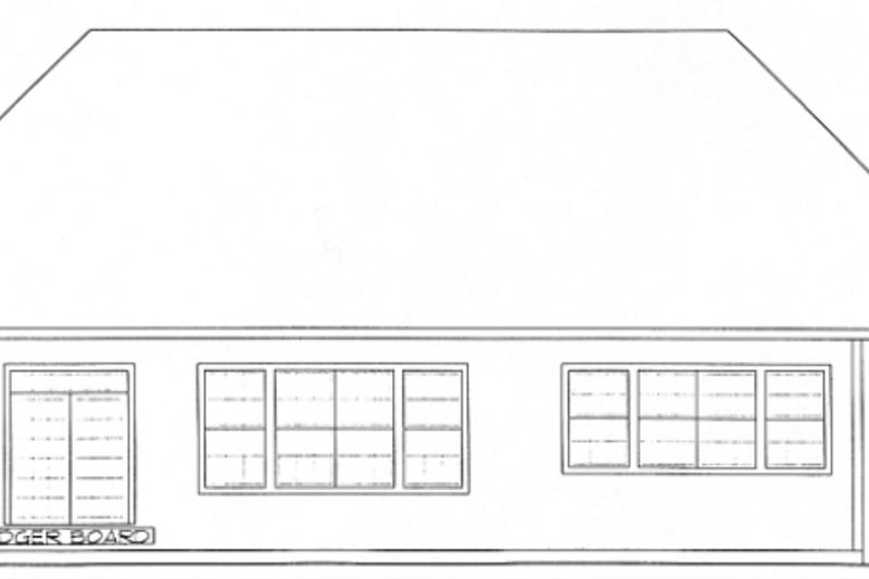 European Exterior - Rear Elevation Plan #20-1627 - Houseplans.com