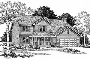 Traditional Exterior - Front Elevation Plan #70-251