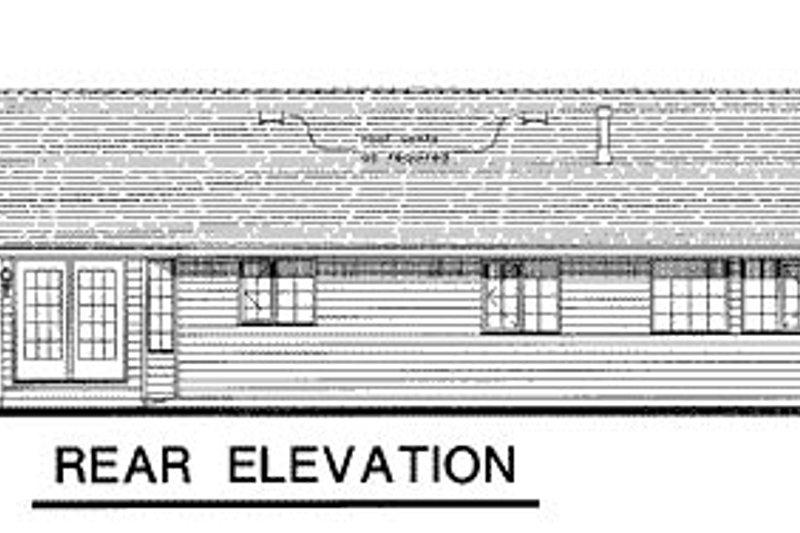 Traditional Exterior - Rear Elevation Plan #18-186 - Houseplans.com