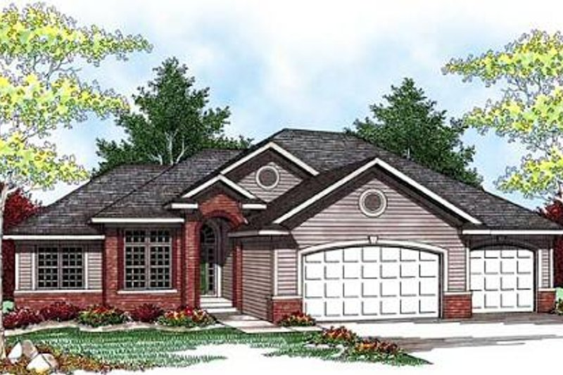 Exterior - Front Elevation Plan #70-929