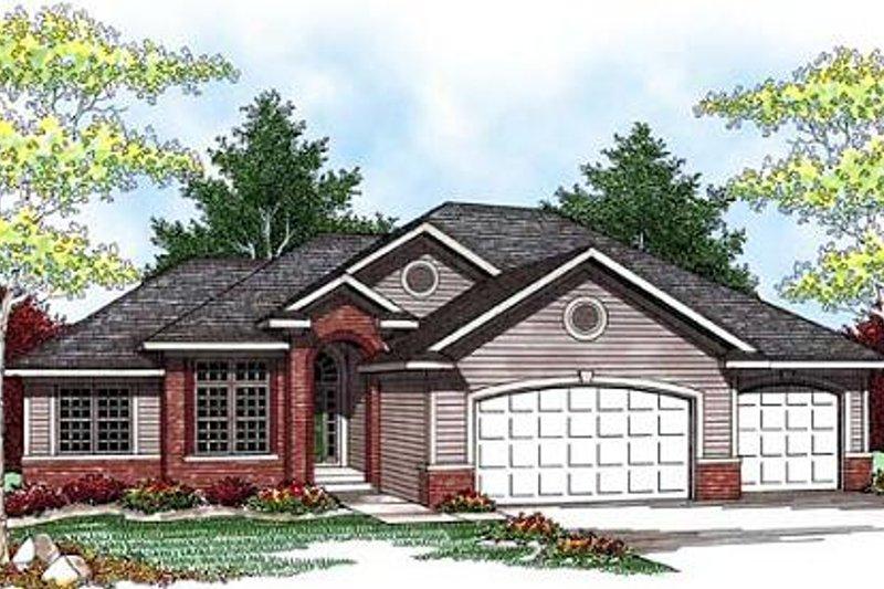 Architectural House Design - Exterior - Front Elevation Plan #70-929