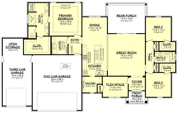House Plan Design - Farmhouse Floor Plan - Main Floor Plan #430-240