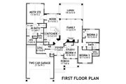 Craftsman Style House Plan - 4 Beds 2 Baths 1764 Sq/Ft Plan #120-176 Floor Plan - Main Floor