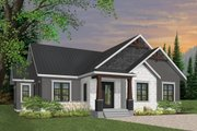 Craftsman Style House Plan - 3 Beds 2 Baths 1631 Sq/Ft Plan #23-2667 Exterior - Front Elevation