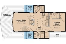 Contemporary Floor Plan - Main Floor Plan Plan #923-6