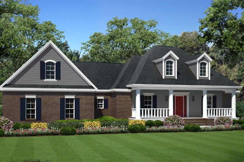 Southern Exterior - Front Elevation Plan #21-333