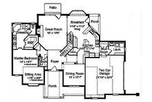 Traditional Floor Plan - Main Floor Plan Plan #46-327