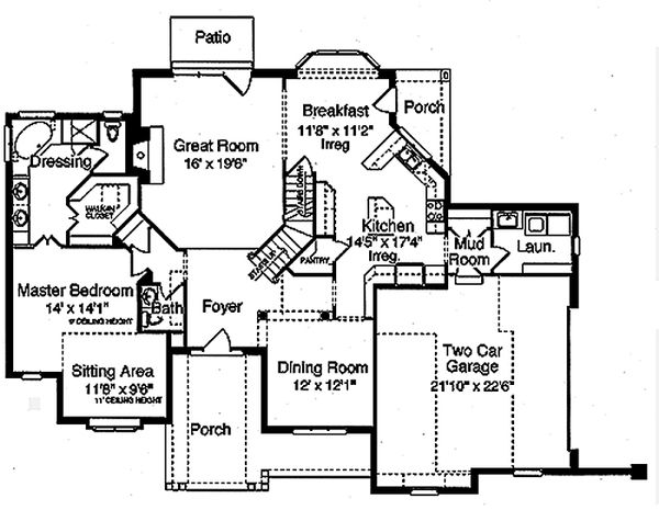 Traditional Floor Plan - Main Floor Plan Plan #46-327